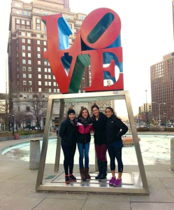 Emma, Holly, Ensemble Director Lauren, Amina take on ASH in Philly! Thanks for showing us the LOVE ASH!